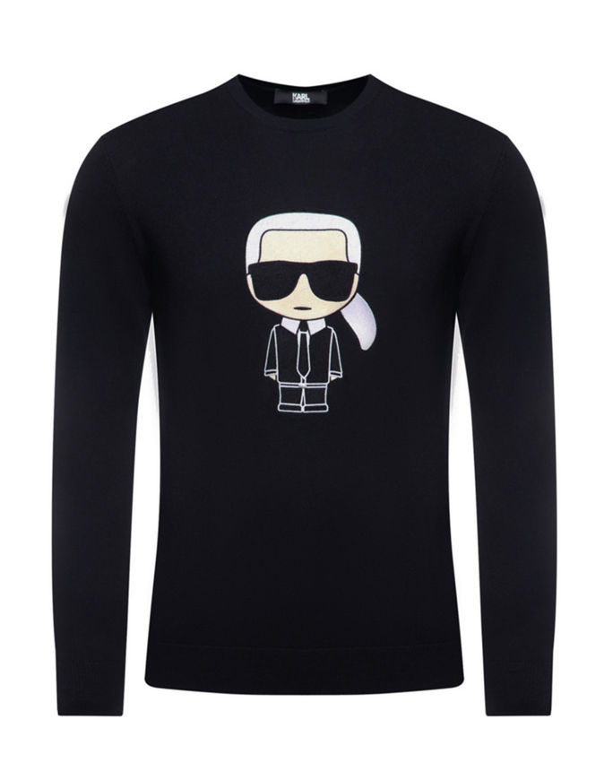 Picture of Karl Lagerfeld Ikonic Navy Crew Knit
