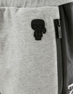 Picture of Karl Lagerfeld Grey Glossy Logo Detailed Sweatpants