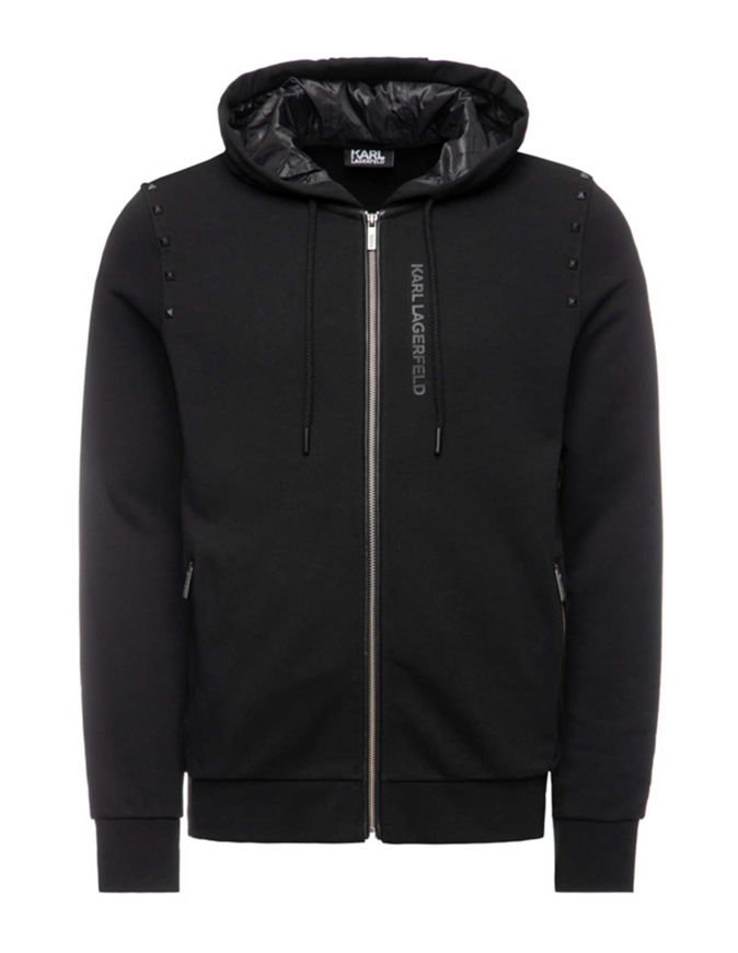 Picture of Karl Lagerfeld Studed Hood Sweat Jacket