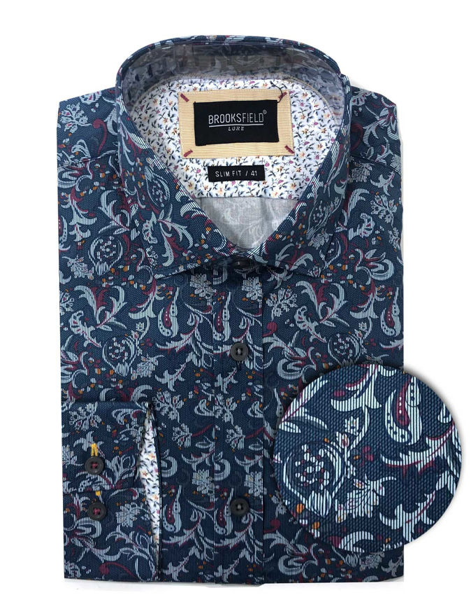 Picture of Brooksfield Paisley Print Luxe Shirt