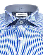 Picture of Brooksfield Dot Printed Blue Slim Shirt