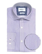Picture of Brooksfield Dot Printed Purple Slim Shirt