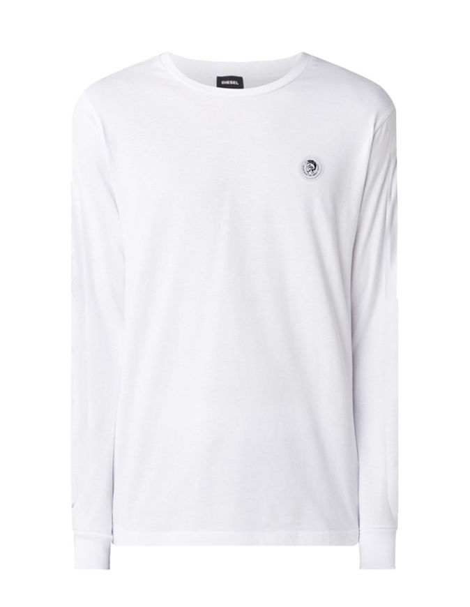 Picture of Diesel White Justy L/S T-Shirt