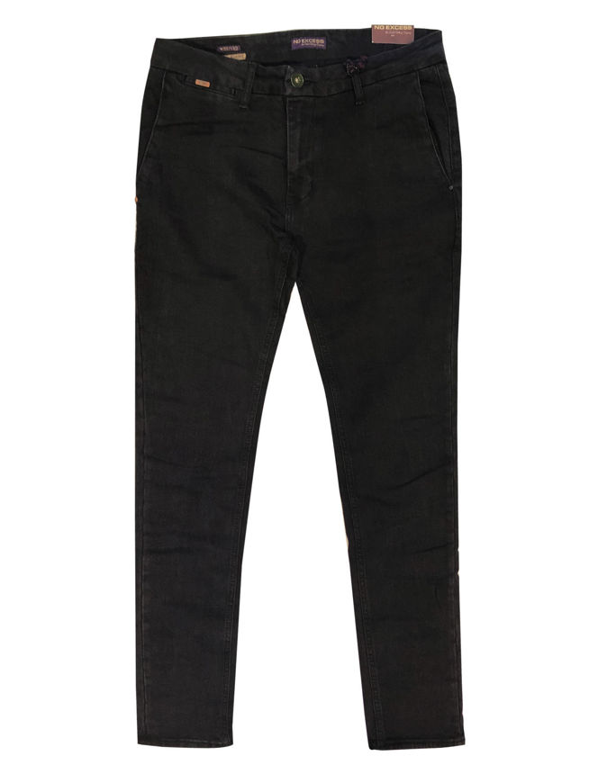Picture of No Excess Washed Slim Stretch Black Pant