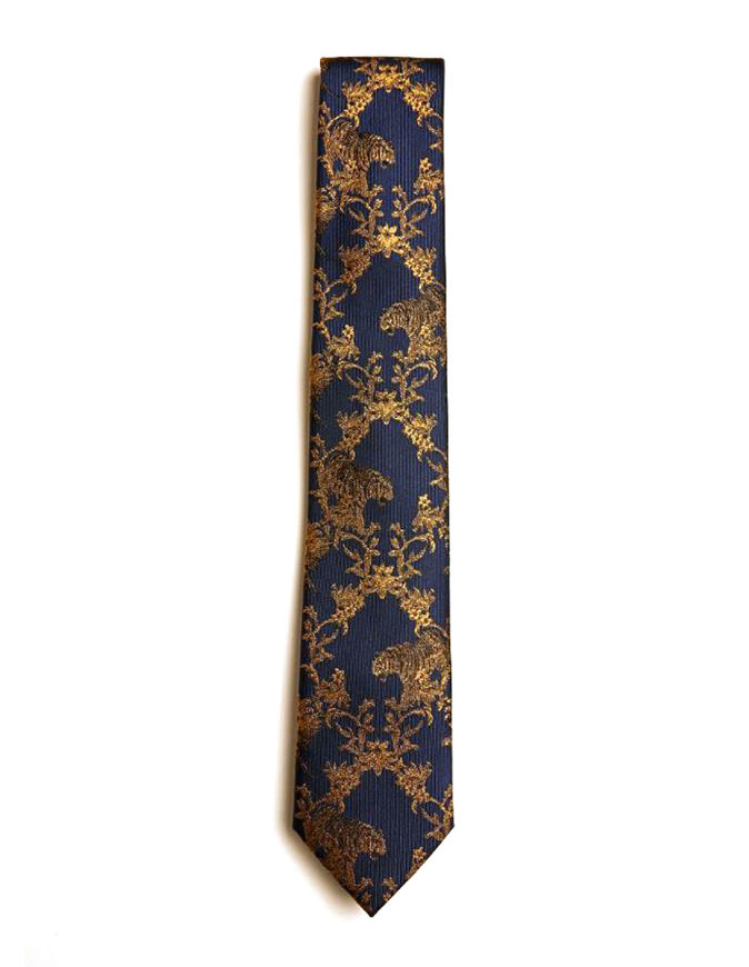 Picture of Ted Baker Tiger Weave Silk Tie