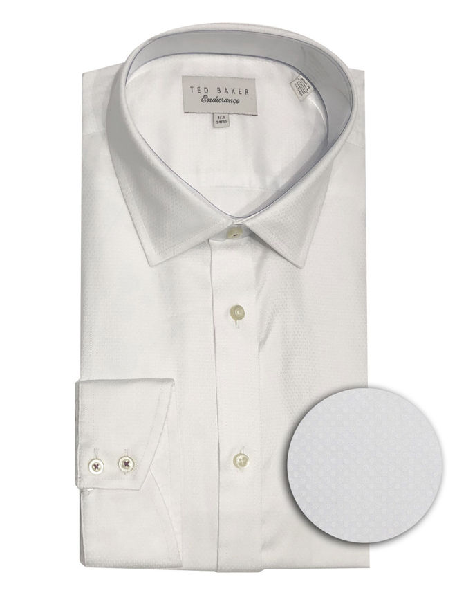 Picture of Ted Baker Endurance Geo Sterling White Shirt