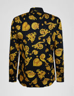 Picture of Versace Jewel Baroque Black Shirt