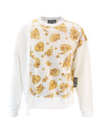 Picture of Versace White & Gold Jewel Baroque Sweat