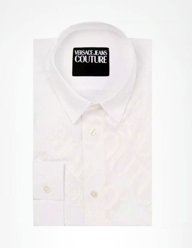 Picture of Versace Jeans Couture White Logo Stretch Shirt