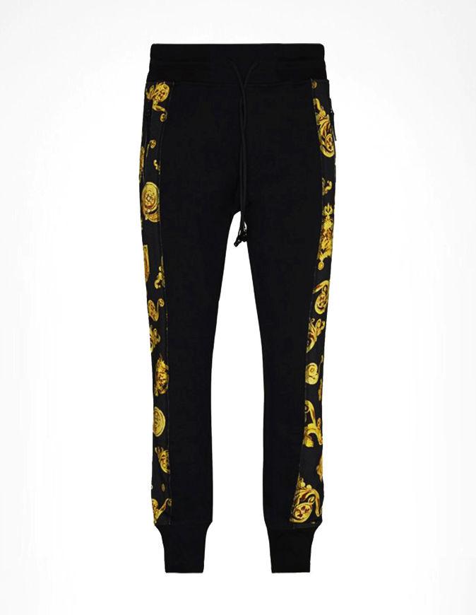 Picture of Versace Black & Gold Jewel Baroque Sweatpants