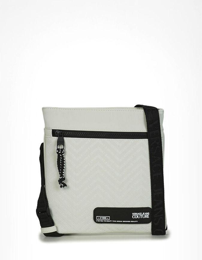 Picture of Versace Chevron Logo White Messenger Bag