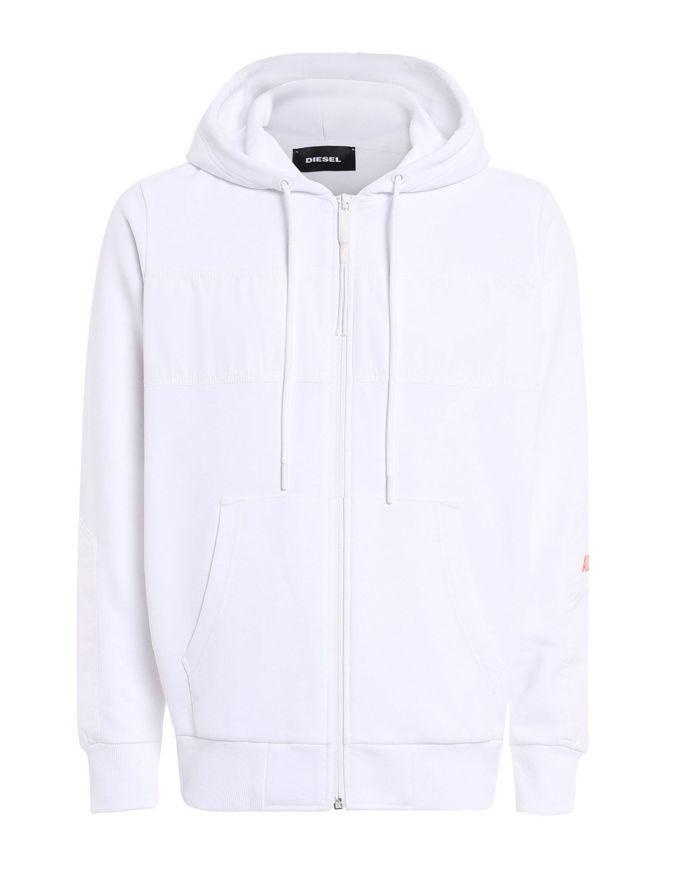Picture of Diesel Diex Hood White Sweat Jacket