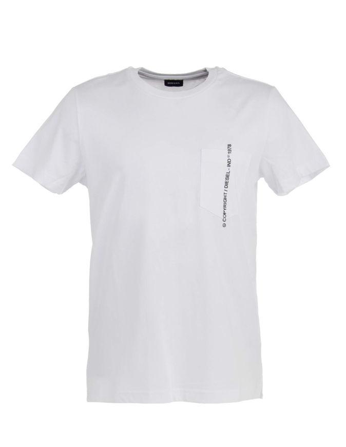 Picture of Diesel White T-Rubin Pocket T-shirt