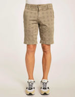 Picture of Gaudi Brown Check Stretch Shorts