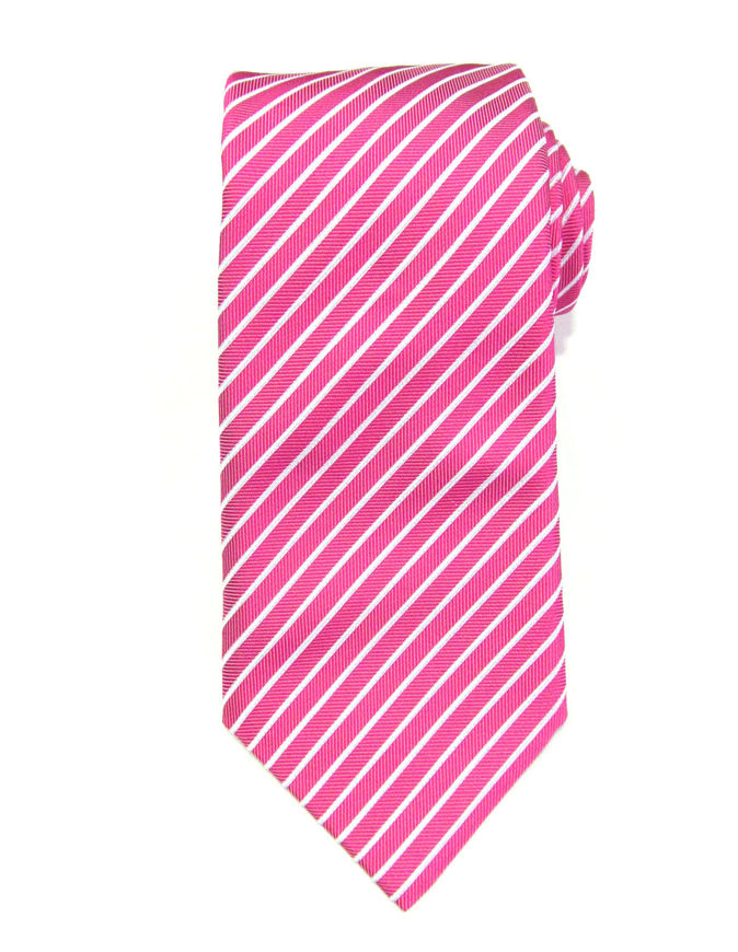 Picture of Hemley Pink Stripe Silk Tie
