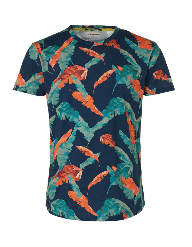 Picture of No Excess Leaf Print Tee