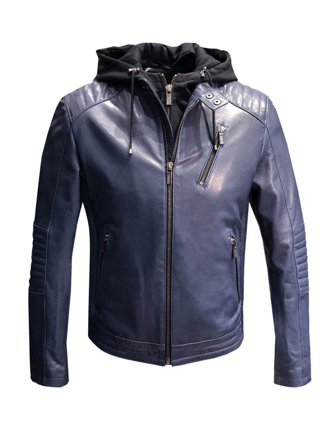 Picture of Karl Lagerfeld Nappa Leather Biker Jacket