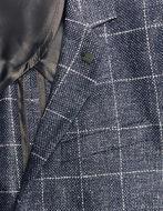 Picture of Karl Lagerfeld Navy Linen & Wool Check Blazer