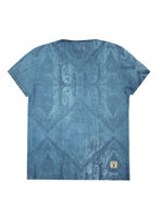 Picture of Pearly King Leaf Print Blue Tee