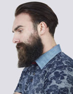 Picture of Pearly King Floral Weave Knitted Polo