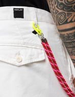 Picture of Replay Pleated Stretch Crop White Chino