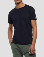 Picture of Replay Trim Cut Navy Tee