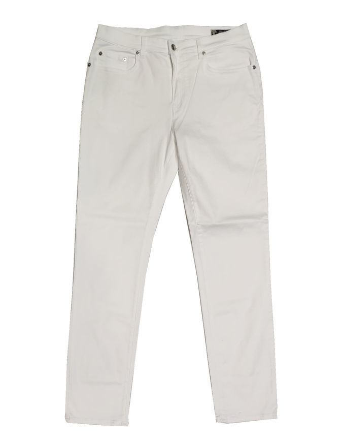 Picture of Versace Collection White Washed Stretch Jean
