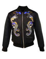 Picture of Versace Gold Baroque Bomber Jacket