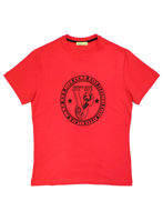 Picture of Versace Jeans Embossed Logo Tee in Red