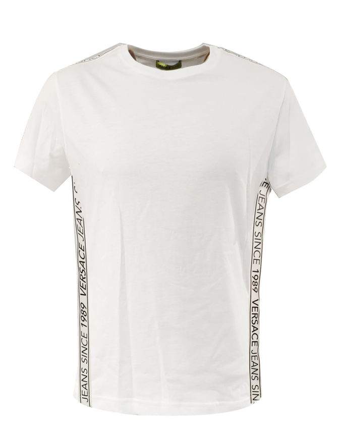 Picture of Versace Jeans Logo Tape Tee in White