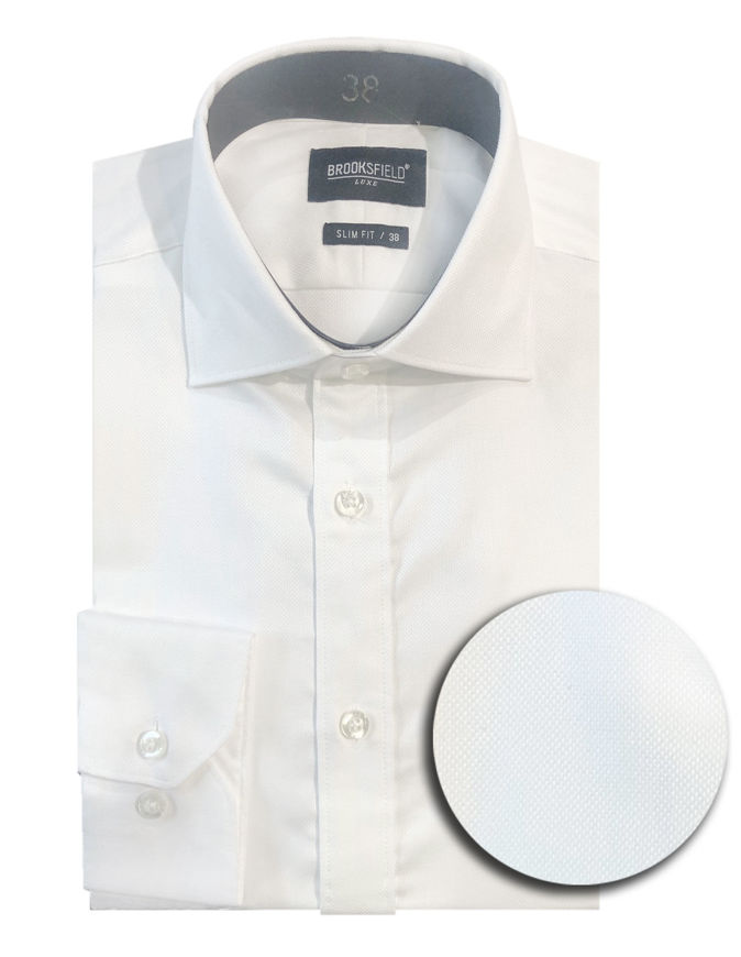 Picture of Brooksfield White Oxford Luxe Shirt