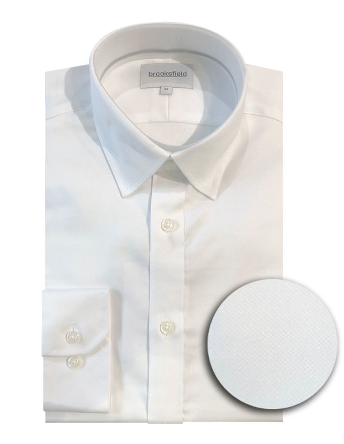 Picture of Brooksfield White Real Oxford Regular Shirt
