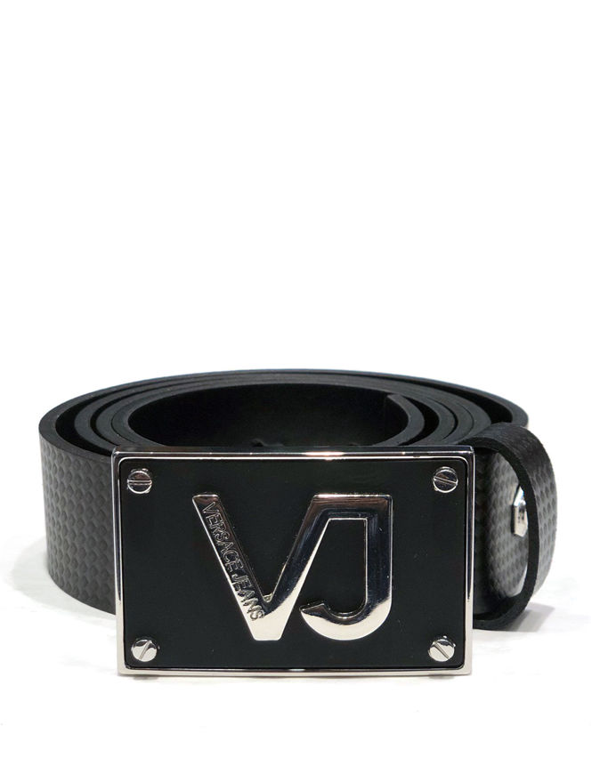 Picture of Versace Jeans Black Textured Belt