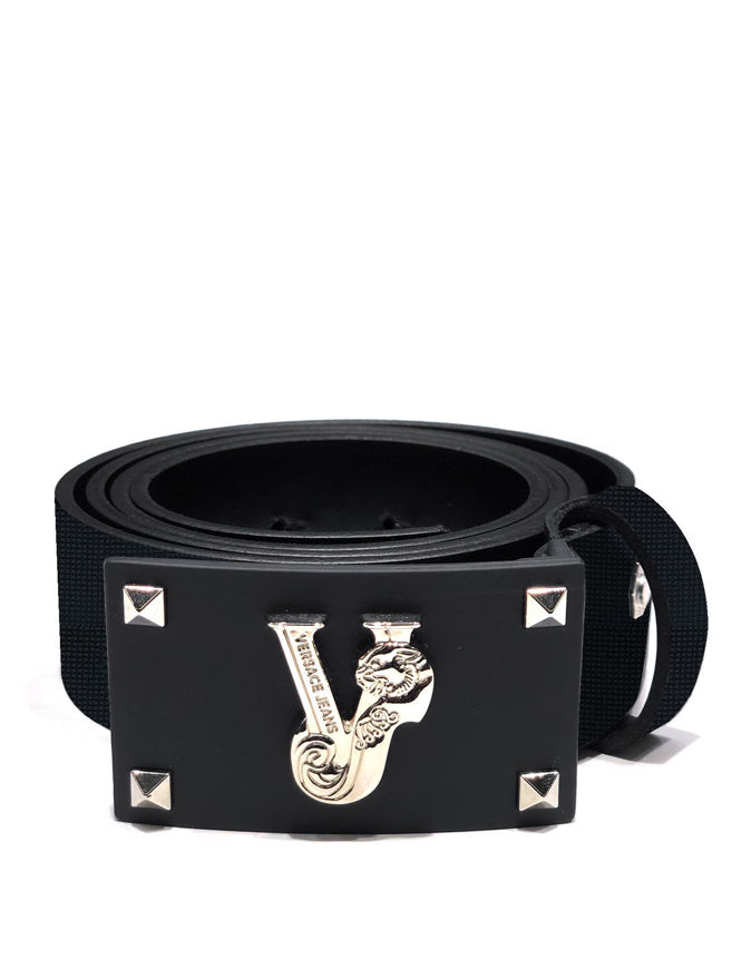 Picture of Versace Jeans Silver Studded Belt