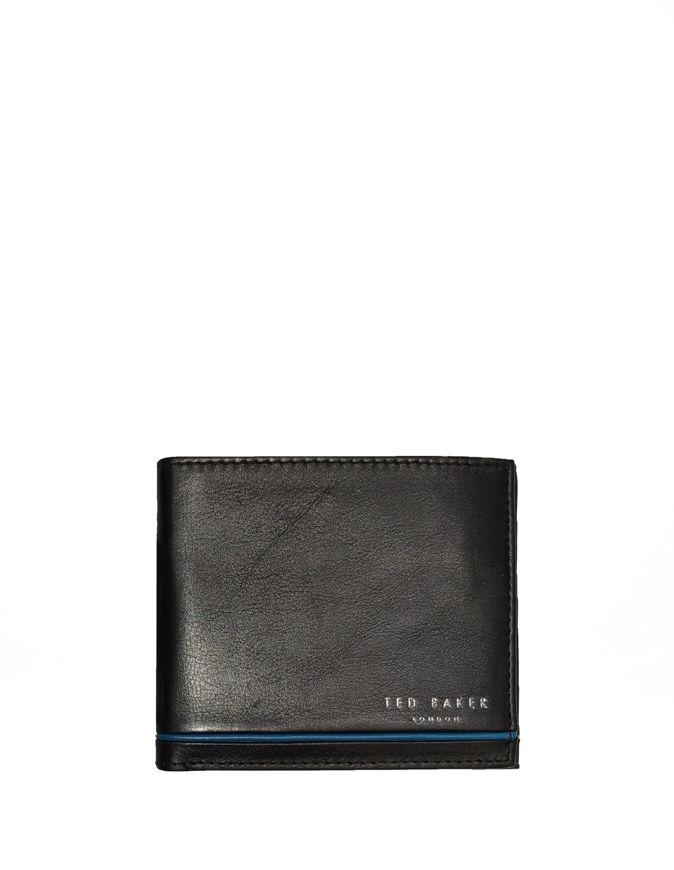 Picture of Ted Baker Black Stripe Bifold Wallet