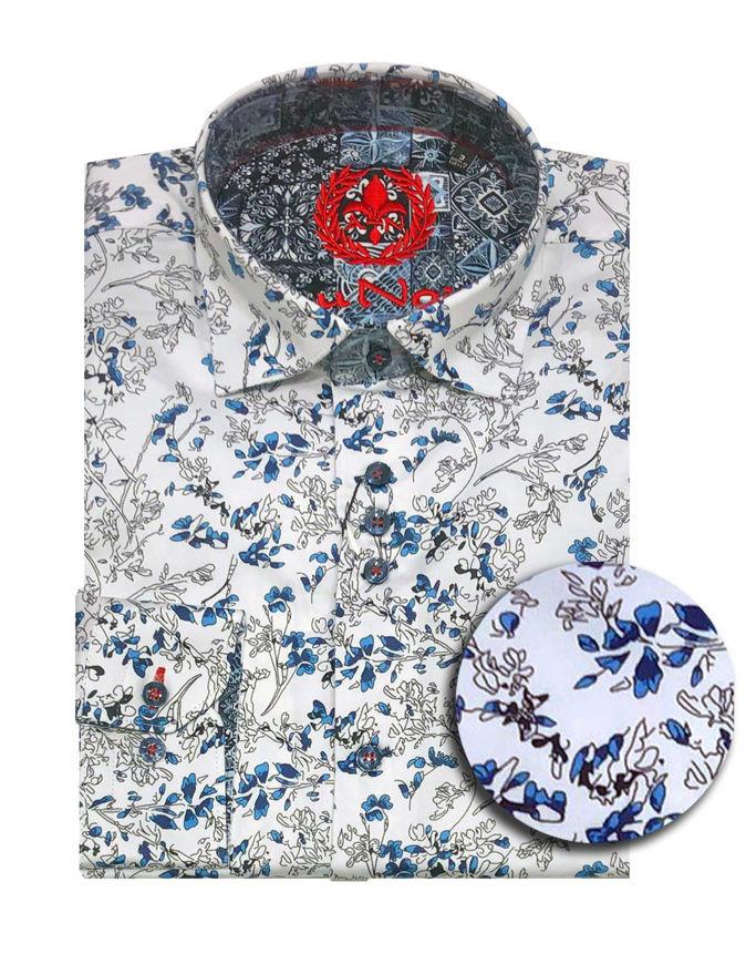 Picture of Au Noir Paulo Stretch Satin Shirt