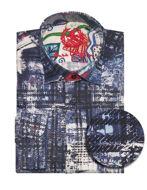 Picture of Au Noir Stretch Satin Navy Cruz Shirt