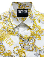 Picture of Versace Barocco Print White Shirt