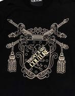 Picture of Versace Shield Embossed Black Slim Tee
