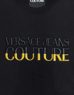 Picture of Versace Logo Embroidered Black Slim Tee