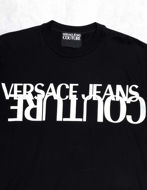 Picture of Versace Illusion Logo Black Slim Tee