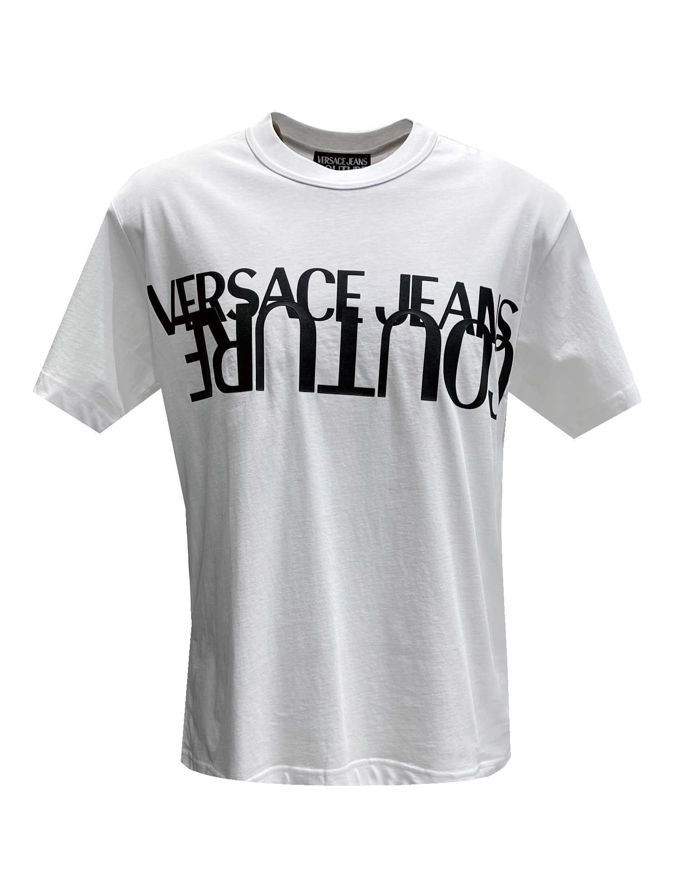 Picture of Versace Illusion Logo White Slim Tee