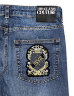 Picture of Versace Jeans Couture London Patch Denim