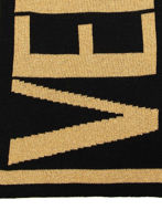 Picture of Versace Jeans Couture Black & Gold Scarf