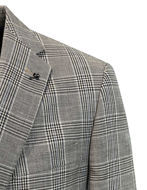 Picture of Studio Italia Grey Check Wool Linen Blazer