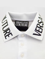 Picture of Versace Jeans Couture White Logo Details Polo
