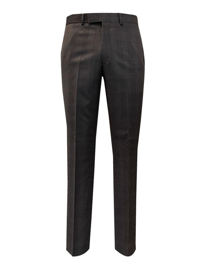 Picture of Studio Italia Slim Dark Charcoal Check Trouser