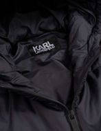 Picture of Karl Lagerfeld Navy Quilted Hood Jacket