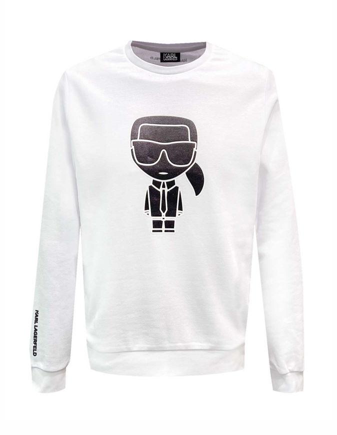 Picture of Karl Lagerfeld Ikonik White Logo Sweatshirt