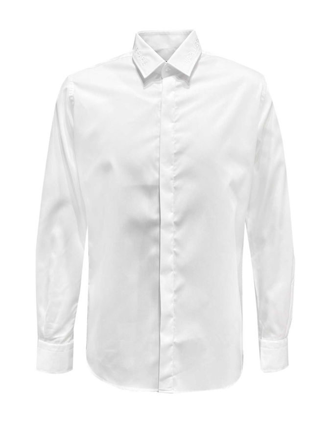 Picture of Karl Lagerfeld Embroidered Collar White Shirt
